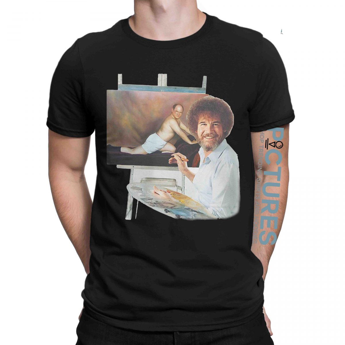 Bob Ross and Seinfeld George The Timeless Art of Seduction shirt