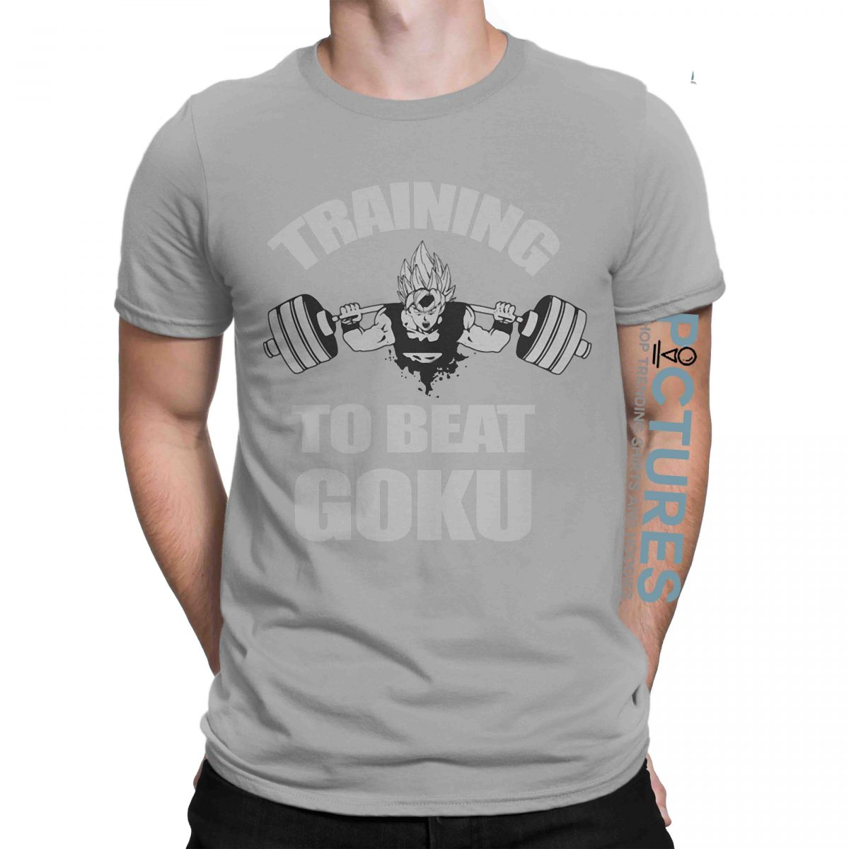 Training to beat goku workout sweat activated motivational shirt